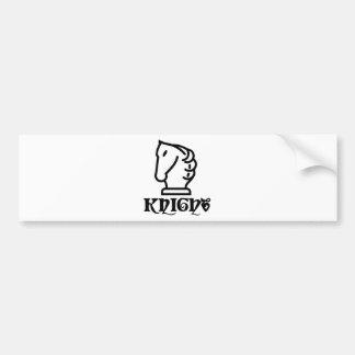 Knight Symbol Bumper Sticker