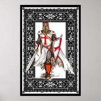 knight templar in armor poster