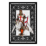 knight templar in armour poster