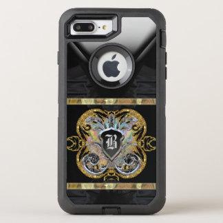 Knight Time Romantic Protective Monogram OtterBox Defender iPhone 8 Plus/7 Plus Case