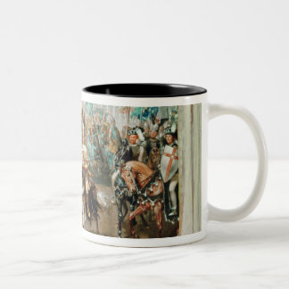 Knight tournament Two-Tone coffee mug
