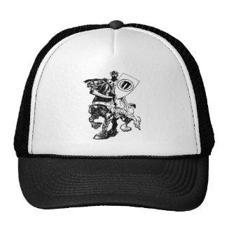 Knight w/ Shield on Huge Fiery Black Horse Cap