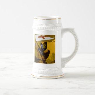 Knight with Flag Coffee Mug