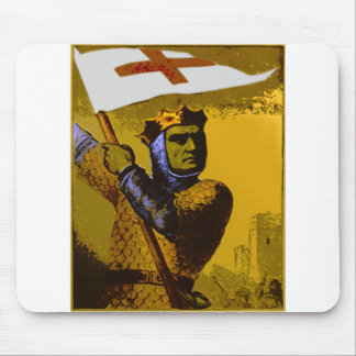 Knight with Flag Mouse Mat