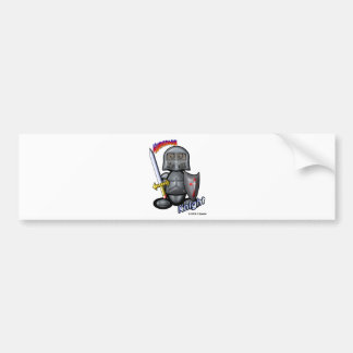 Knight (with logos) bumper sticker