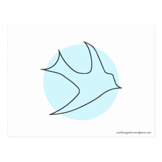 Knightingales Postcard (Blue)
