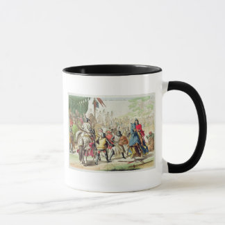 Knights Duelling on Foot in a Tournament, plate 1 Mug