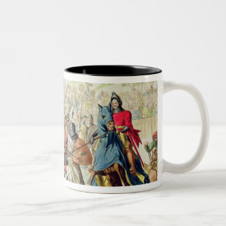 Knights Duelling on Foot in a Tournament, plate 1 Two-Tone Coffee Mug