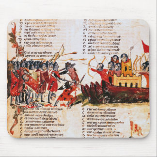 Knights Fighting Mouse Mat