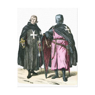 Knights from the Order of St John Canvas Print