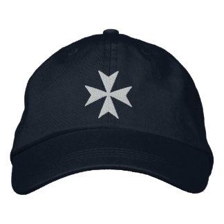Knights Hospitaller Maltese Cross Embroidered Hats