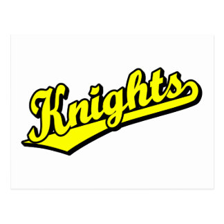 Knights in Yellow Postcard