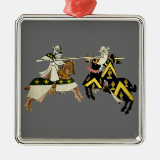 KNIGHTS JOUSTING CHRISTMAS ORNAMENT