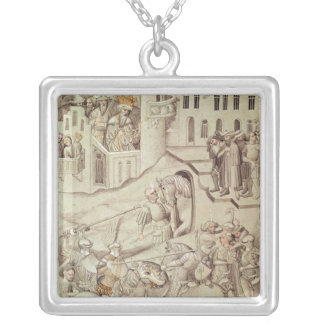 Knights jousting possibly in the Hippodrome Silver Plated Necklace