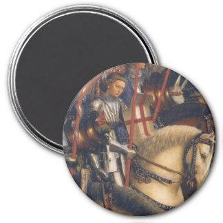 Knights of Christ (Ghent Altarpiece) 7.5 Cm Round Magnet