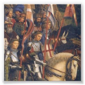 Knights of Christ (Ghent Altarpiece), Jan van Eyck Art Photo