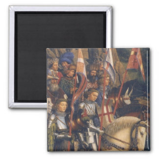 Knights of Christ (Ghent Altarpiece) Square Magnet
