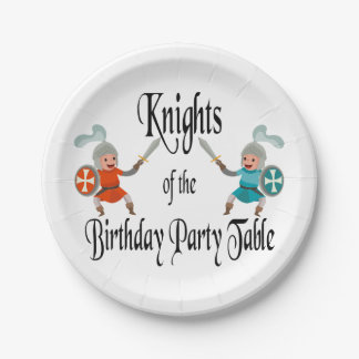 Knights of the Birthday Party Table 7 Inch Paper Plate