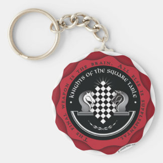 Knights of the Square Table in Red Key Ring