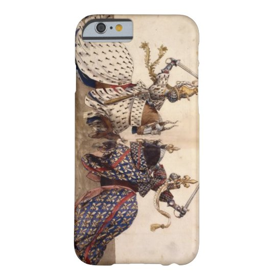 Knights on horseback jousting barely there iPhone 6 case
