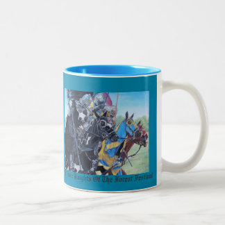 Knights on horses historic realist art mugs