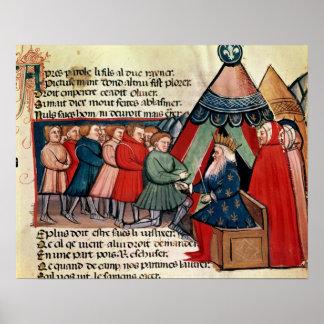 Knights pledging their allegiance print