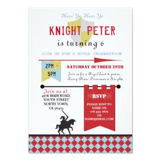 Knights Princess Medieval  Birthday Party Invite