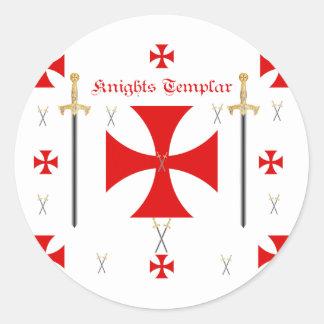 Knights Templar Classic Round Sticker