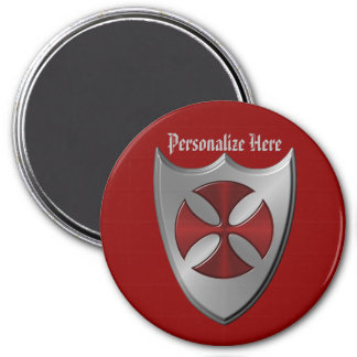 Knights Templar Cross and Shield Magnet
