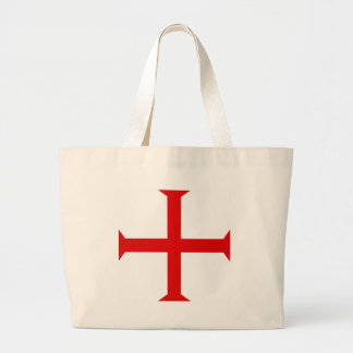 Knights Templar Cross Large Tote Bag