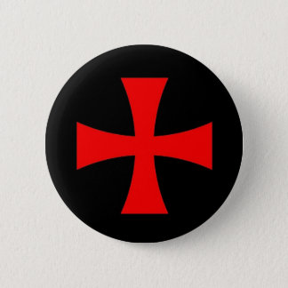 Knights Templar Cross [ Scottish ] 6 Cm Round Badge
