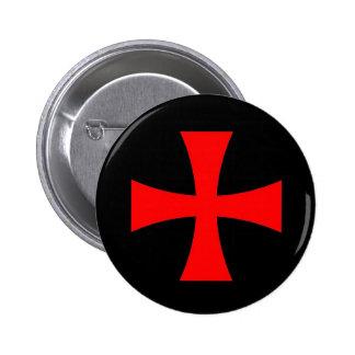 Knights Templar Cross [ Scottish ] 6 Cm Round Badge