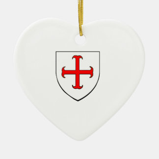 Knights Templar Crusade Shield Christmas Ornament