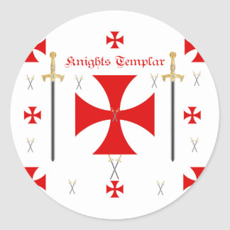 Knights Templar Round Sticker