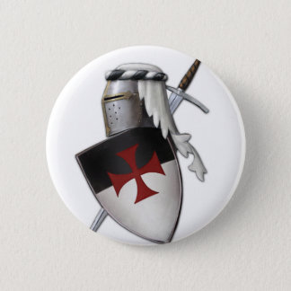 Knights Templar shield 6 Cm Round Badge