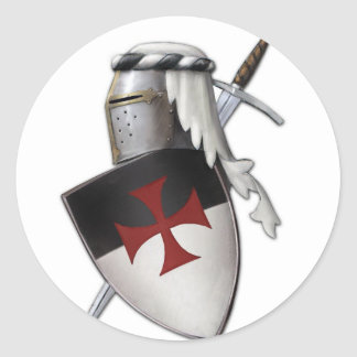 Knights Templar shield Classic Round Sticker