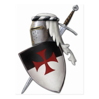 Knights Templar shield Postcard