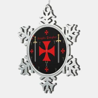 Knights Templar Snowflake Ornament