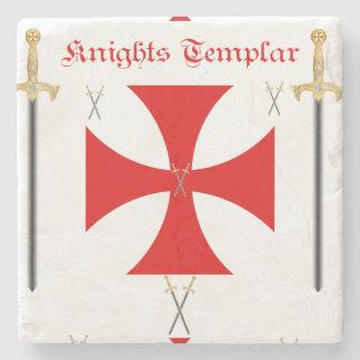 Knights Templar Stone Coaster