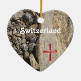 Knights Templar Switzerland Ceramic Heart Decoration