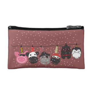 Knit4feet Characters Small Cosmetic bag. Cosmetic Bags