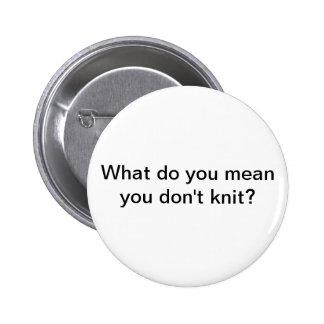 Knit 6 Cm Round Badge