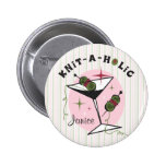 Knit-A-Holic 6 Cm Round Badge