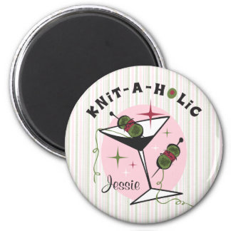 Knit-A-Holic 6 Cm Round Magnet