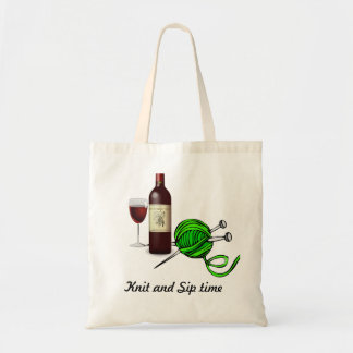 Knit and Sip Tote Bag