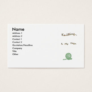 Knit as Yoga Cards