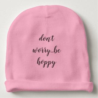 knit baby hat be hoppy baby beanie