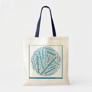 Knit Book yarn craft tote bookclub bag