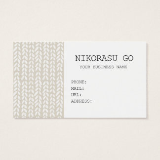 KNIT BUSINESS CARD
