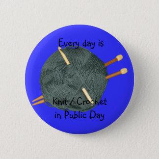 Knit Crochet in Public 6 Cm Round Badge